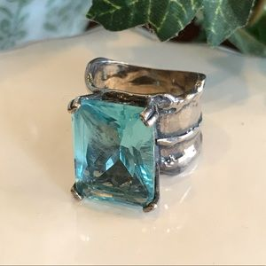 Silpada Aqua Glass Ring